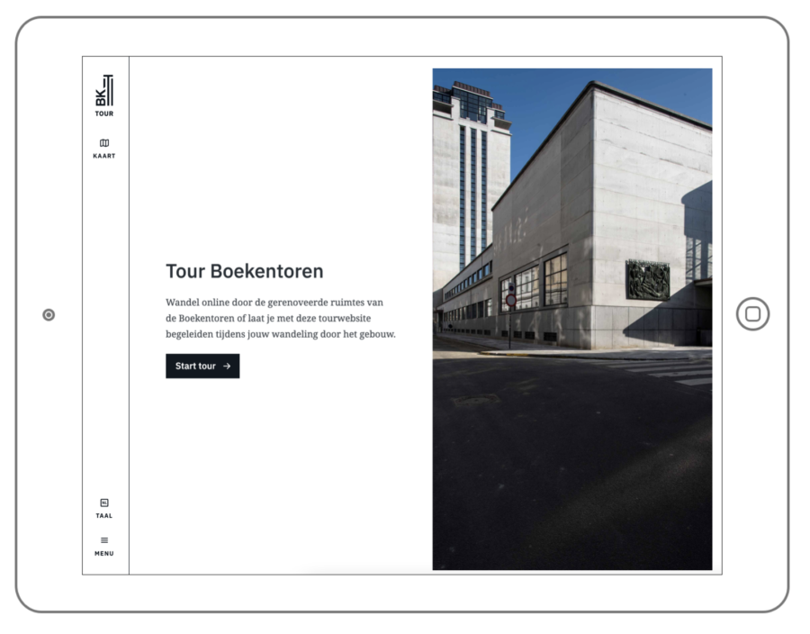 Tourwebsite Boekentoren