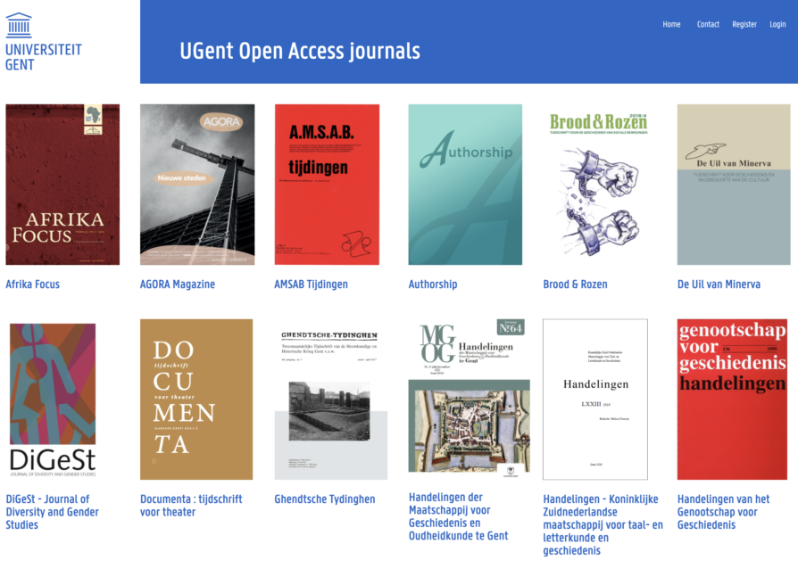 Open journals UGent